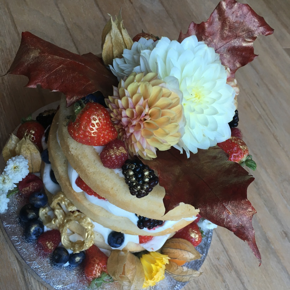 autumn naked fruit flower gold age cake 3