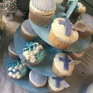 bc christening blue cupcakes 1