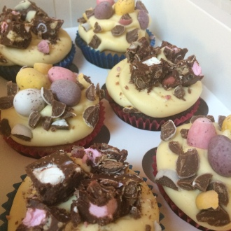 bc easter rocky road cupcakes