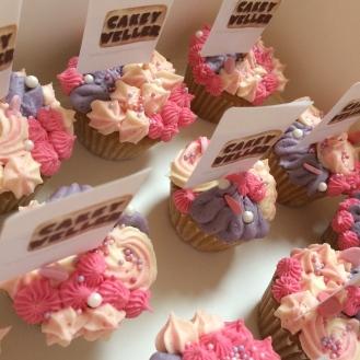 bc flower mermaid mini cupcakes pink