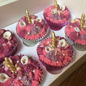 bc pink unicorn cupcakes kids sprinkles mermaid 1