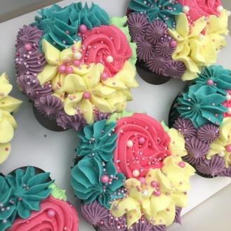bc rose mermaid sprinkles cupcakes