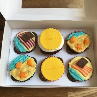 bc summer beach teacher cupcakes