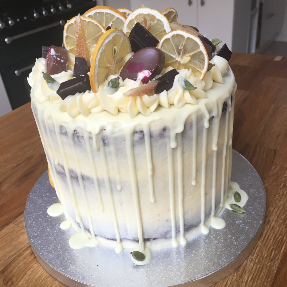 cardamom lemon gin drip cake thorpe 1