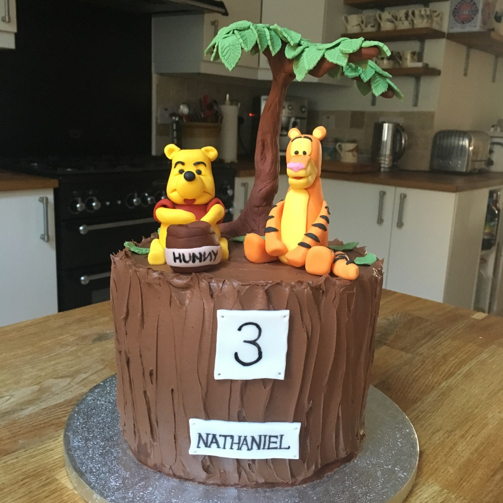 DF Vegan Winnie the Pooh Tigger Cake 1