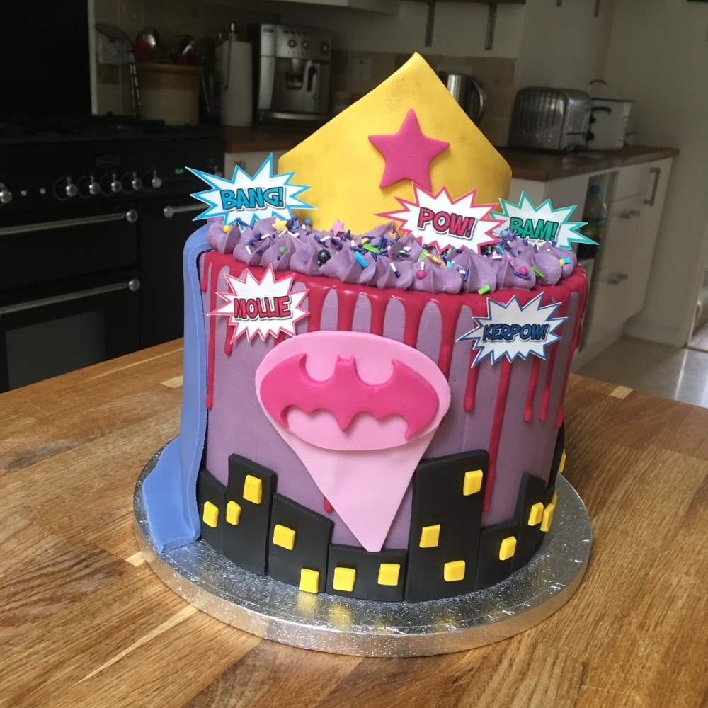Girly Superhero Cake