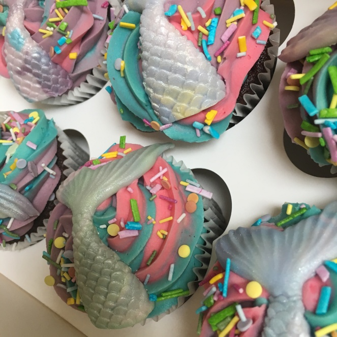 Mermaid Rainbow Cupcakes 3