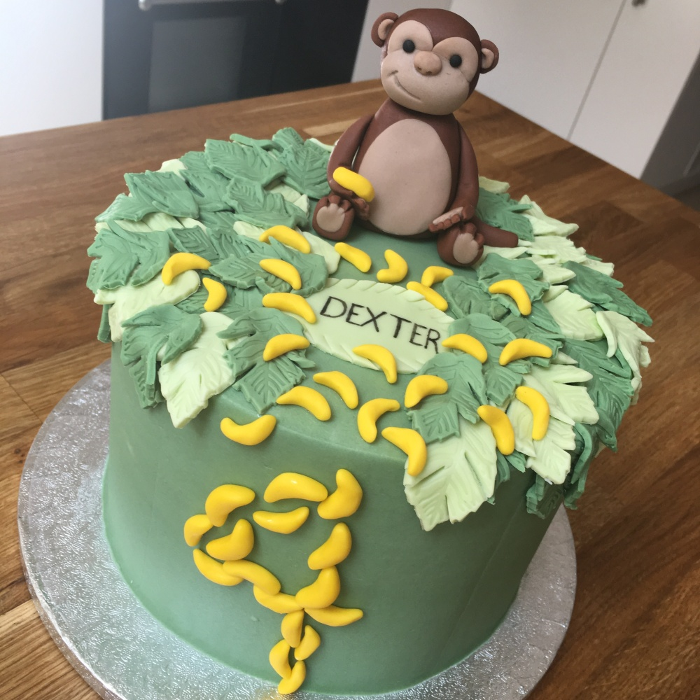 Monkey Jungle Kids Age Cake 1