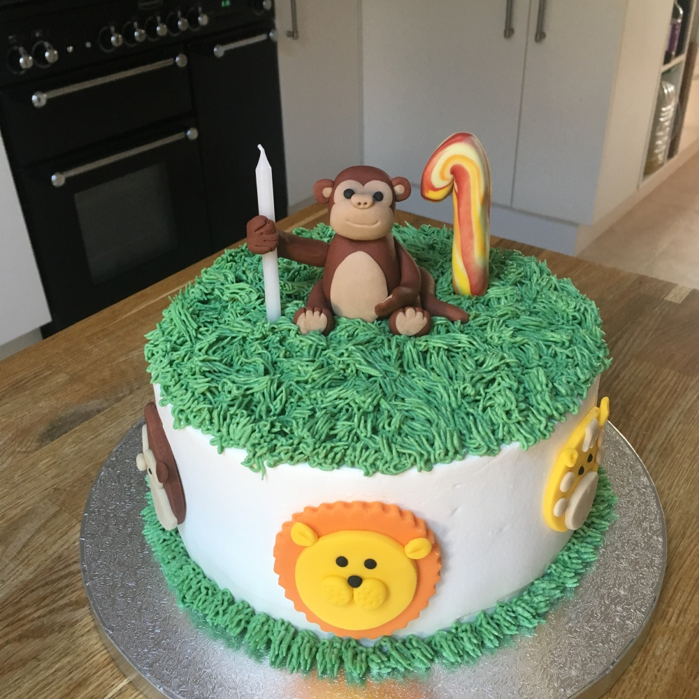 Monkey Jungle Vegan Cake 1