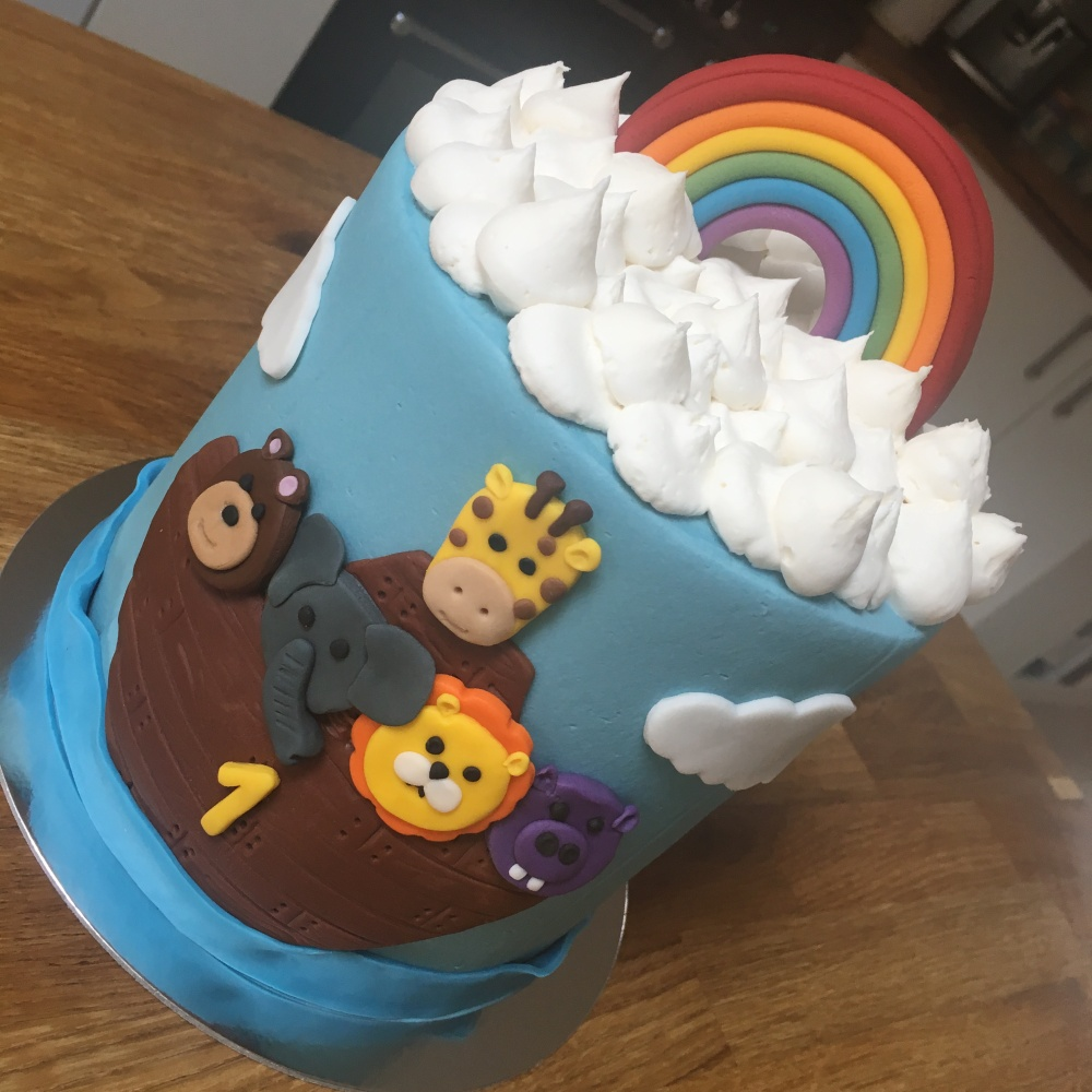 Noahs Ark Kids Animal Age Cake 2