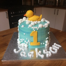 BC F Sugarcraft Duck Bubbles Name Age One Kids 4