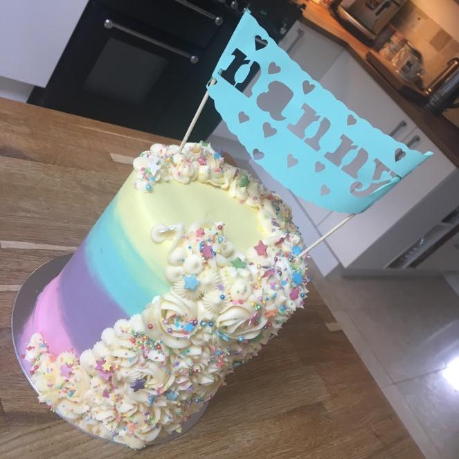 Pastel Mane Cake Papercut Banner Cake 1