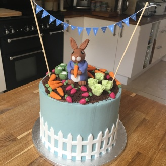 Peter Rabbit Bunting Cake 3