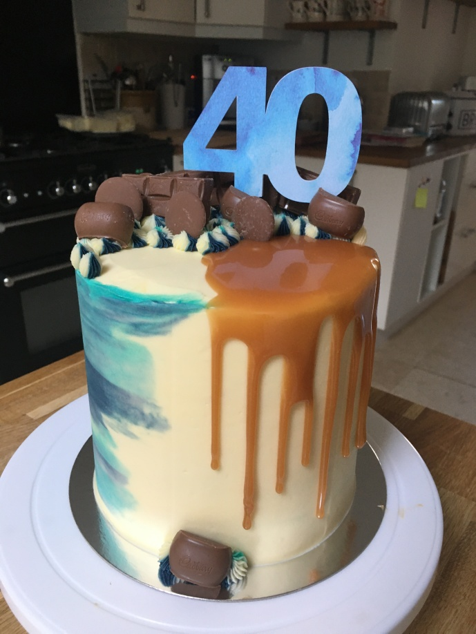 Watercolour Caramel Drip Cake