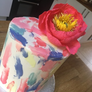 Watercolour Paint Cake Paper Flower 3