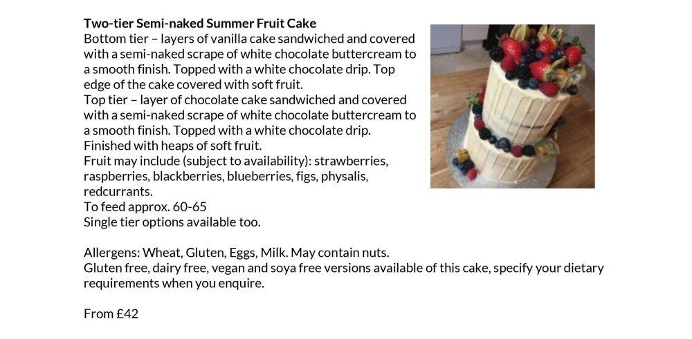 Cakey Staples Summer Fruit Tier Cake from